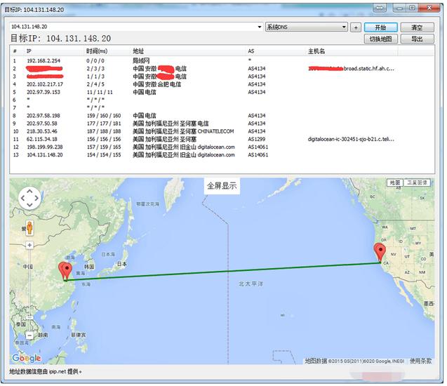 如何利用BestTrace工具检测搬瓦工去程和回程线路-VPS排行榜