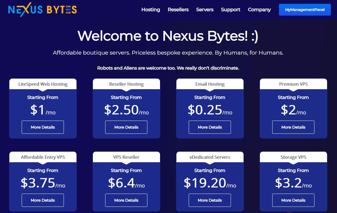 Nexus Bytes :美国 日本 新加坡 欧洲 低价VPS购买 1G方案 $4/月起-VPS排行榜