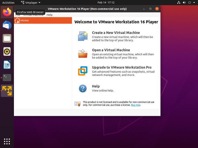 如何在Ubuntu 20.04上安装VMware Workstation Player