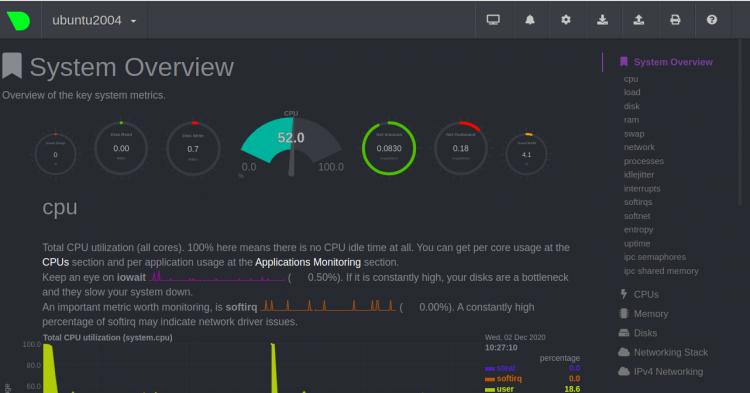 如何在Ubuntu 20.04上安装Netdata Monitoring Tool(服务器实时性能运行状况监测)-VPS排行榜