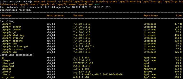 如何在CentOS 8 / RHEL 8上安装OpenLiteSpeed Web服务器-VPS排行榜
