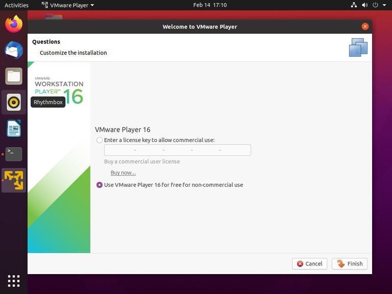 如何在Ubuntu 20.04上安装VMware Workstation Player-VPS排行榜