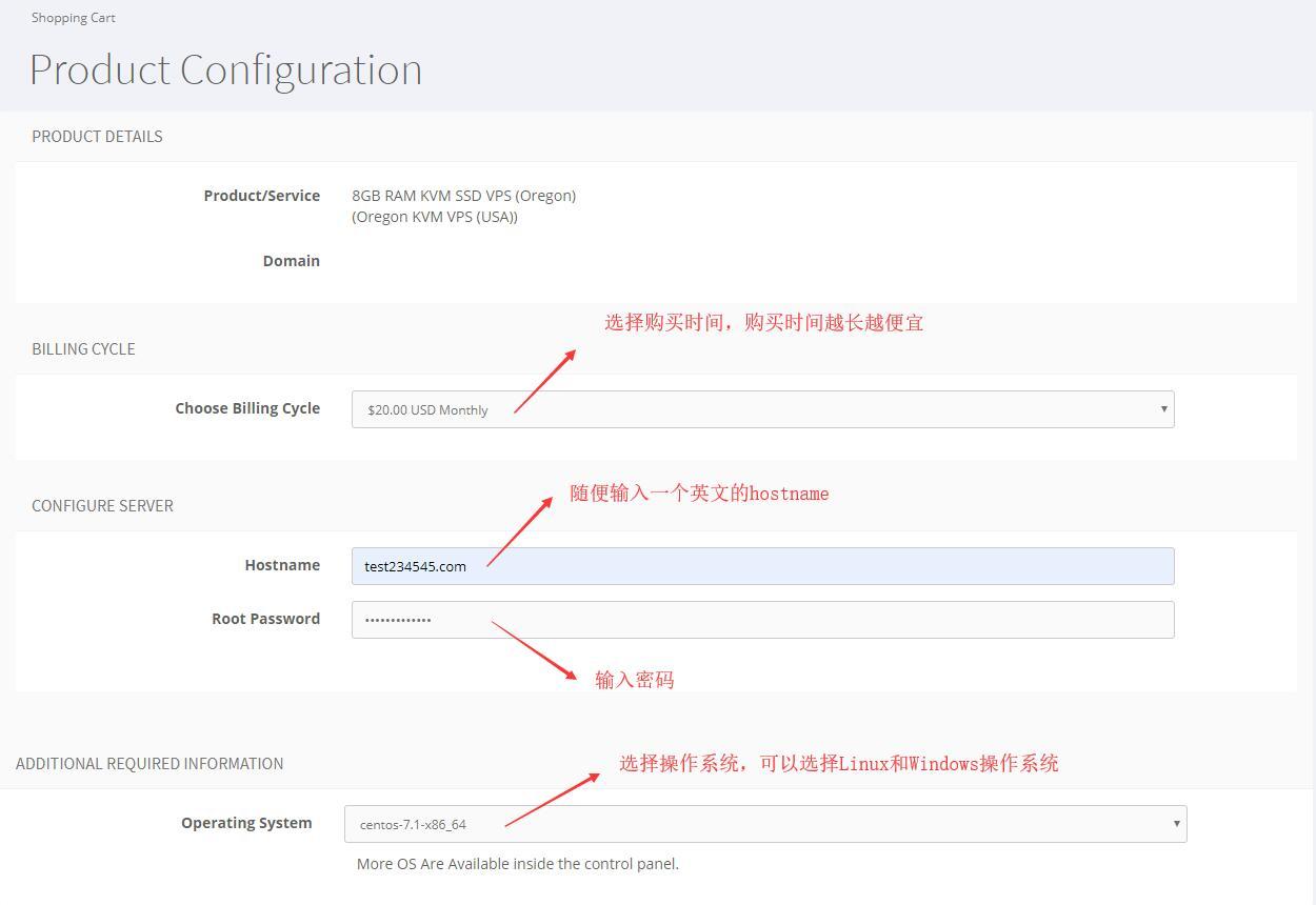 Host4Fun VPS购买选择产品配置