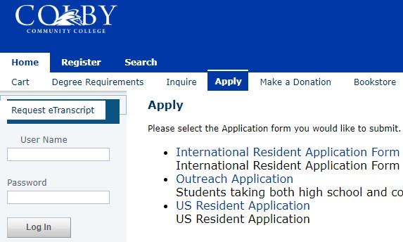 科尔比社区学院邮箱申请