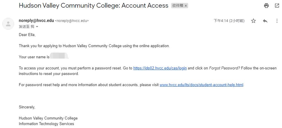 哈德逊河谷社区学院邮箱申请