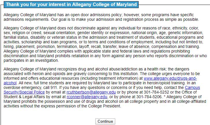 马里兰州阿勒格尼学院邮箱申请