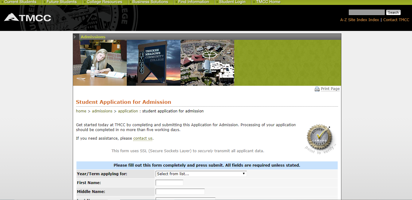 特拉基·梅多斯社区学院学生邮箱申请
